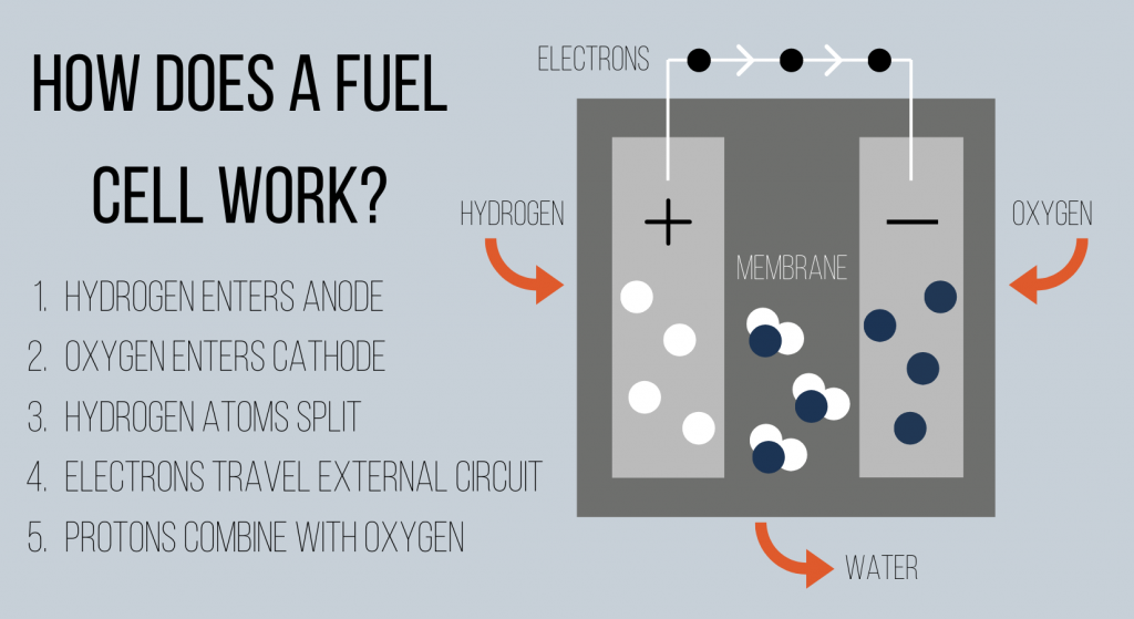 How a hydrogen fuel cell forklift works