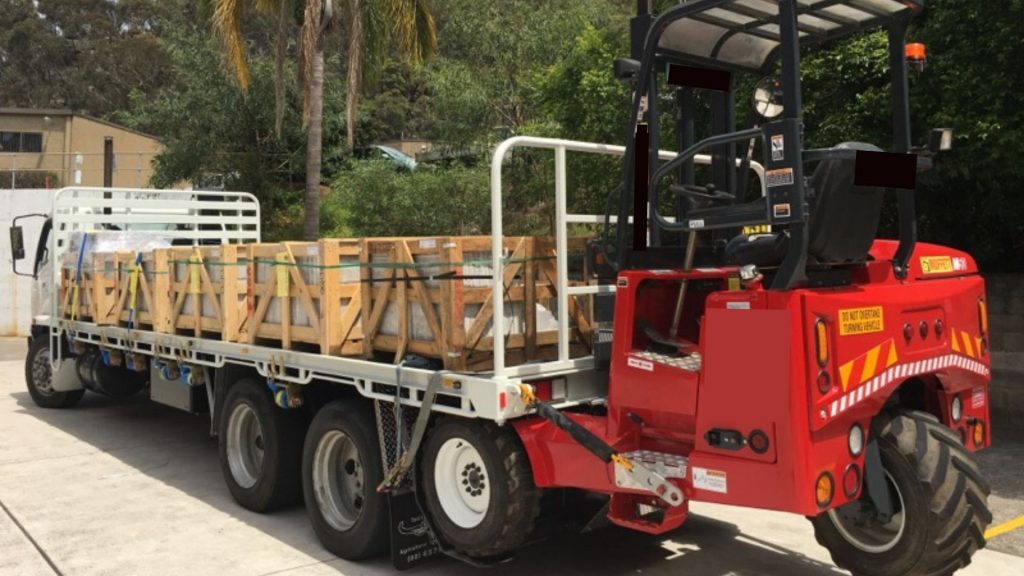 truck-mounted forklifts for sale on the back of a truck