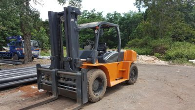 Small all-terrain forklifts for sale outside