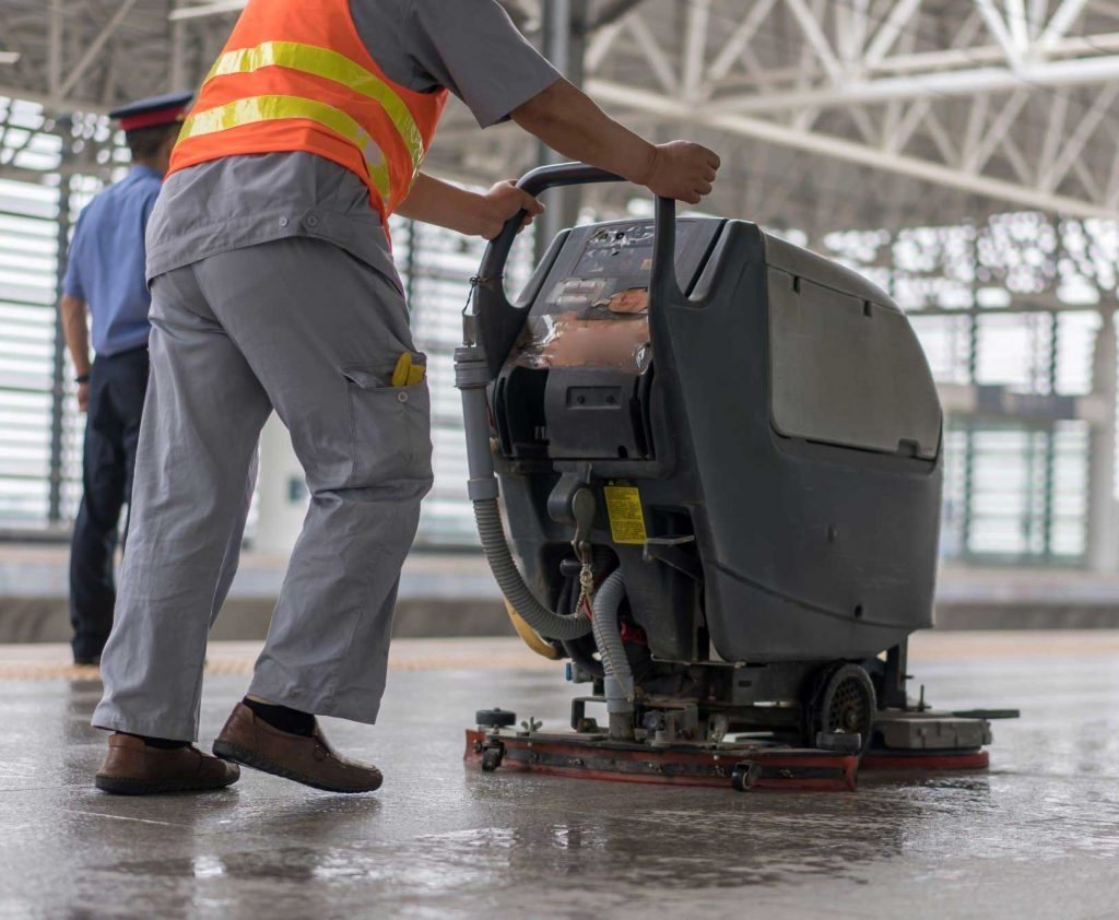 Industrial floor scrubbers for sale for concrete floors