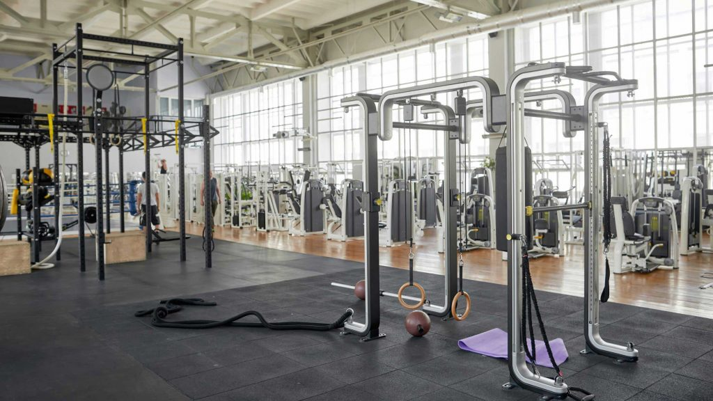 Multiple types of gym flooring in one facility