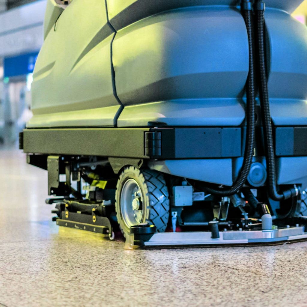 An example of one of the many sustainable floor scrubber machines from Scrubbershop.