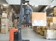 Order picker used for warehouse forklift applications
